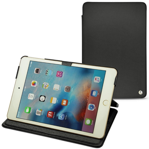 Apple iPad mini 4 leather case - Noir ( Nappa - Black )