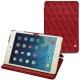 Apple iPad mini 5 leather case - Rouge - Couture ( Nappa - Pantone 199C )