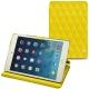 Housse cuir Apple iPad mini 5 - Jaune fluo - Couture