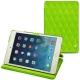 Apple iPad mini 5 leather case - Vert fluo - Couture