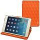 Apple iPad mini 5 leather case - Orange fluo - Couture