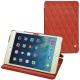 Apple iPad mini 5 leather case - Arange clouquié - Couture