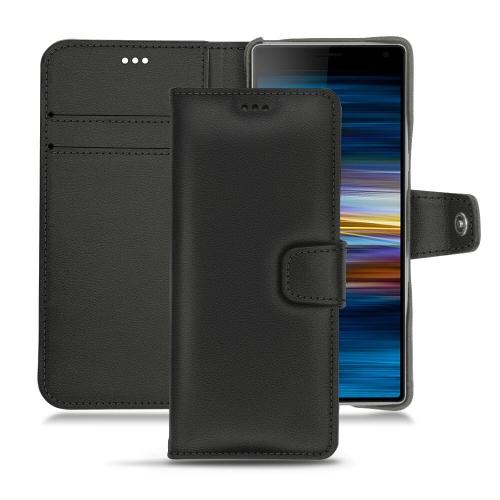 Custodia in pelle Sony Xperia 10 - Noir PU