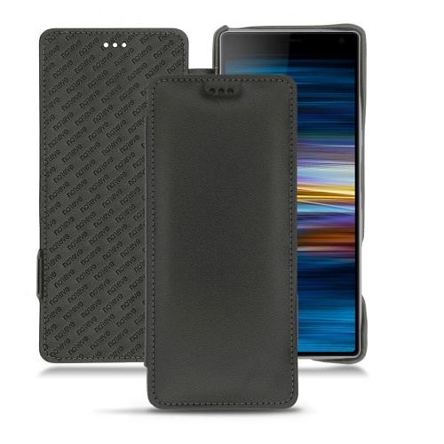 Custodia in pelle Sony Xperia 10 Plus - Noir PU