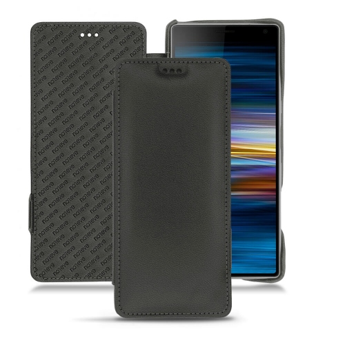 Sony Xperia 10 Plus leather case - Noir PU