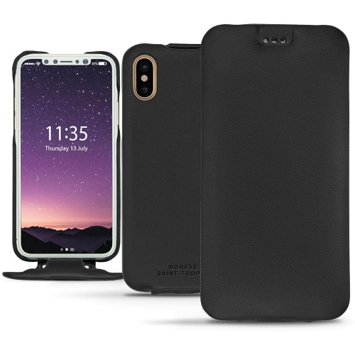Housse cuir Apple iPhone X - Noir PU