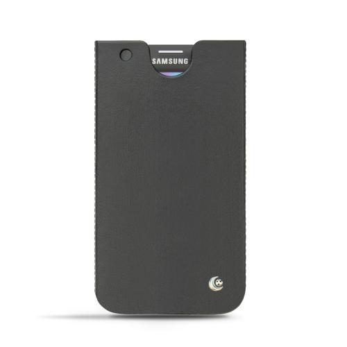 Funda de piel Samsung SM-G900 Galaxy S5 - Noir ( Nappa - Black )