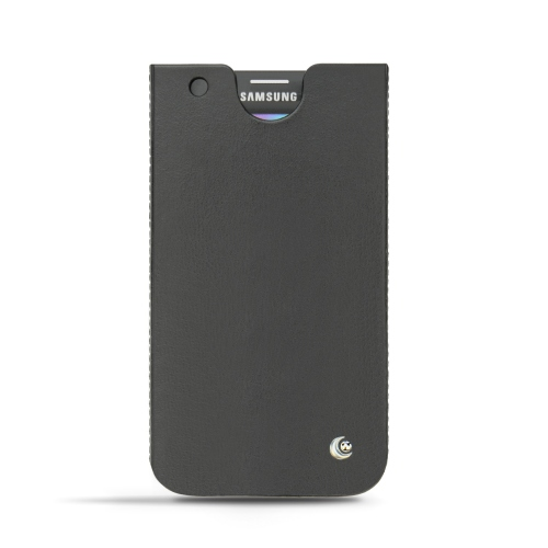 Samsung SM-G900 Galaxy S5 leather case - Noir ( Nappa - Black )