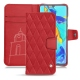 HuaweiP30 Pro leather case - Rouge troupelenc - Couture