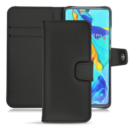 HuaweiP30 Pro leather case - Noir PU