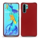 Huawei P30 Pro leather cover - Rouge ( Nappa - Pantone 199C )