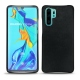 Huawei P30 Pro leather cover - Dark vintage ( Roughtcut - Black#5256 )