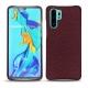 Huawei P30 Pro leather cover - Lie de vin ( Pantone 5115C )