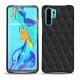 Huawei P30 Pro leather cover - Noir - Couture ( Nappa - Black )