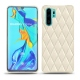 Huawei P30 Pro leather cover - Blanc - Couture ( Bologna - White )