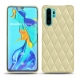 Huawei P30 Pro leather cover - Beige - Couture ( Nappa - Pantone 7502C )