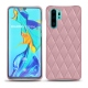 Coque cuir Huawei P30 Pro - Rose - Couture ( Nappa - Pantone 2365C )
