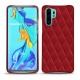 Funda de piel Huawei P30 Pro - Rouge - Couture ( Nappa - Pantone 199C )