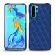 Huawei P30 Pro leather cover - Bleu océan - Couture ( Nappa - Pantone 293C )