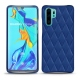 Lederschutzhülle Huawei P30 Pro - Bleu océan - Couture ( Nappa - Pantone 293C )