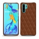 Huawei P30 Pro leather cover - Marron - Couture ( Nappa - Pantone 1615C )