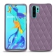 Huawei P30 Pro leather cover - Lilas - Couture ( Nappa - Pantone 2645U )