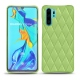 Huawei P30 Pro leather cover - Vert olive - Couture ( Nappa - Pantone 578U )