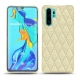 Huawei P30 Pro leather cover - Ivoire - Couture ( Sleek P C12 - White )