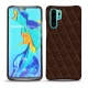 Huawei P30 Pro leather cover - Châtaigne - Couture ( Pantone 476C )