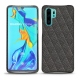 Coque cuir Huawei P30 Pro - Anthracite - Couture ( Pantone 424C )