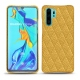 Coque cuir Huawei P30 Pro - Mimosa - Couture ( Pantone 141C )