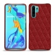 Coque cuir Huawei P30 Pro - Tomate - Couture ( Pantone 187C )