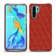 Huawei P30 Pro leather cover - Papaye - Couture ( Pantone 180C )