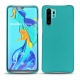 Huawei P30 Pro leather cover - Bleu fluo