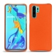 Huawei P30 Pro leather cover - Orange fluo
