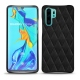 Coque cuir Huawei P30 Pro - Negre poudro - Couture