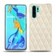 Huawei P30 Pro leather cover - Blanc escumo - Couture