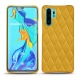 Huawei P30 Pro leather cover - Jaune soulèu - Couture