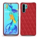 Coque cuir Huawei P30 Pro - Rouge troupelenc - Couture