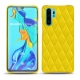 Coque cuir Huawei P30 Pro - Jaune fluo - Couture