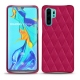 Coque cuir Huawei P30 Pro - Rose fluo - Couture