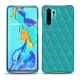 Coque cuir Huawei P30 Pro - Bleu fluo - Couture