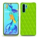 Coque cuir Huawei P30 Pro - Vert fluo - Couture