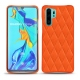 Coque cuir Huawei P30 Pro - Orange fluo - Couture