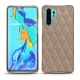 Coque cuir Huawei P30 Pro - Taupe vintage - Couture