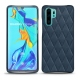 Huawei P30 Pro leather cover - Jean vintage - Couture