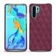Coque cuir Huawei P30 Pro - Prune vintage - Couture
