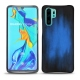 Huawei P30 Pro leather cover - Bleu Patine
