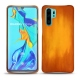 Huawei P30 Pro leather cover - Orange Patine