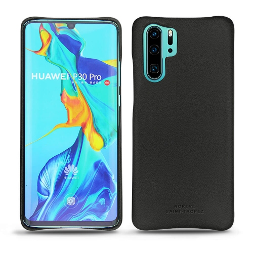 Huawei P30 Pro leather cover - Noir PU